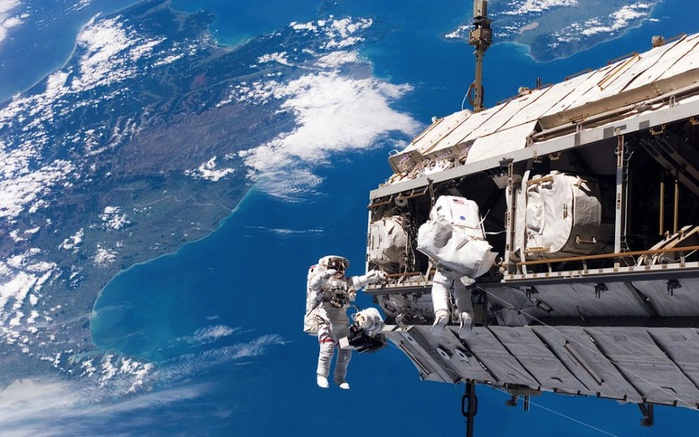 Фотографии в открытом космосе