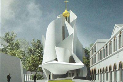 Архитектор Фредерик Борель (Франция) Третье место на конкурсе постройки храма в Париже