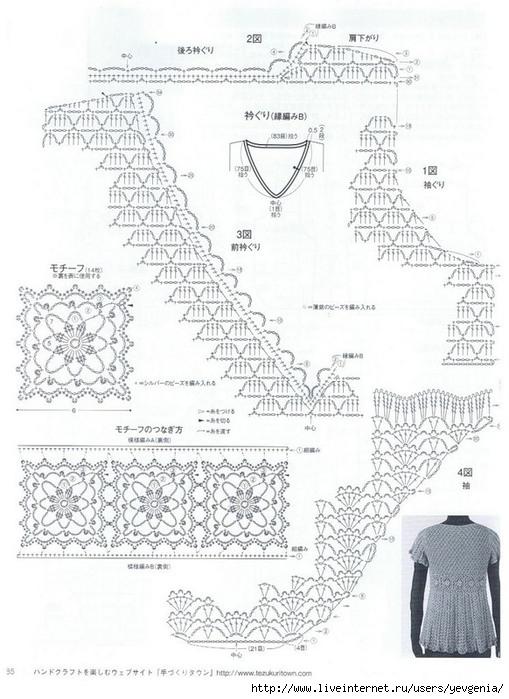Японский ажур-туника