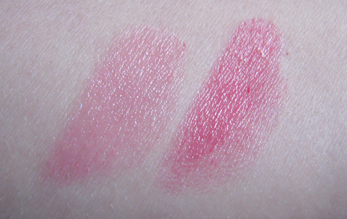 Chanel Coco shine 56 Chance, Dior Addict 554 It pink