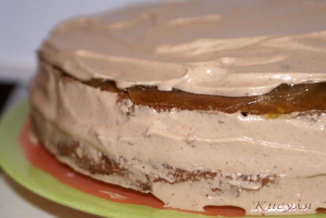 шоколадно-сырный торт