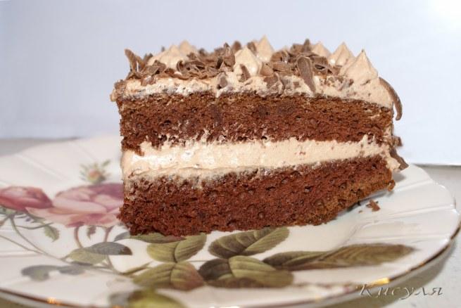 шоколадно--сырный торт