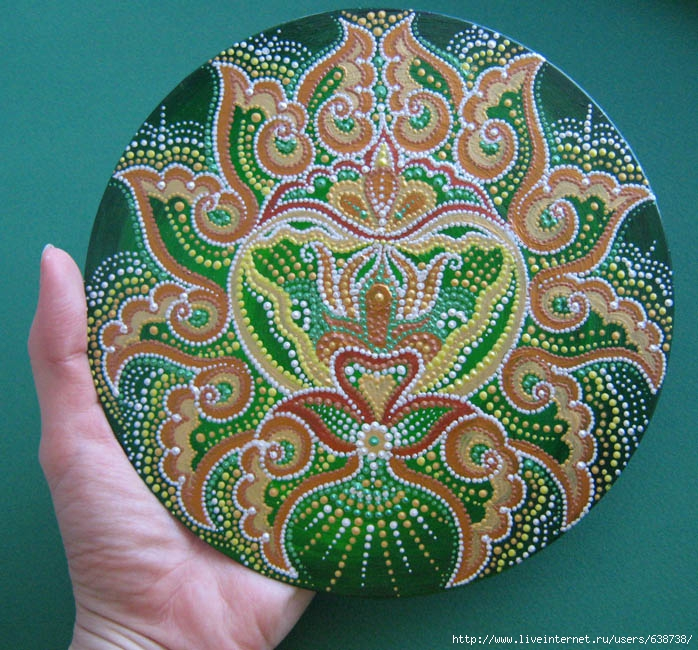 Анахата, сердечная чакра, роспись акрилом, Shraddha