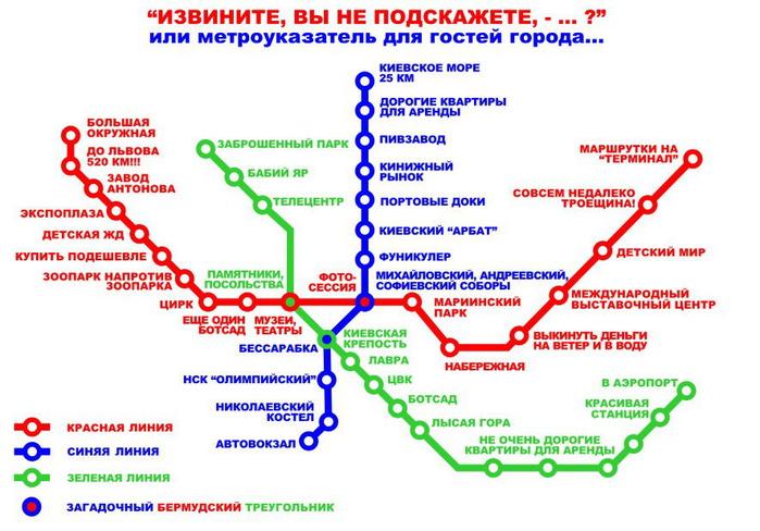 Приколы схема метро