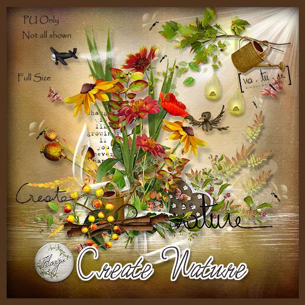 Осенний скрап-набор Create nature