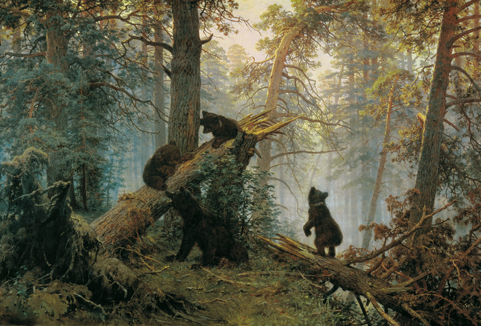 Shishkin, Ivan - Morning in a Pine Forest (700x474, 199 Kb)
