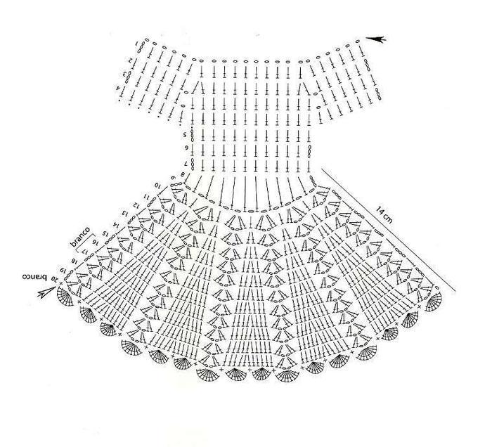 Примерная схема для вязания