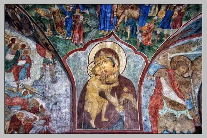 фото Ипатьевского монатыря, фрески Троицкого собора