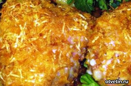 Курица в чипсах