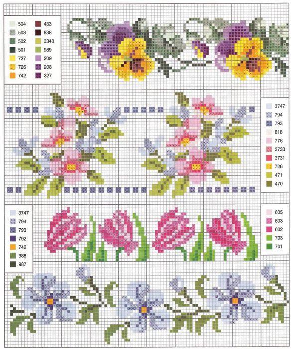 Цветы схемы картинки из бисера вышивки