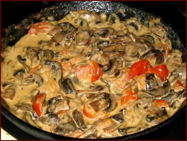 сливочно-грибной соус