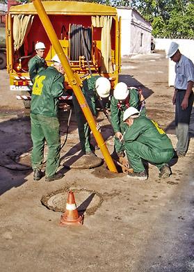 Промывка наружной канализации