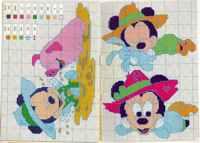 mickey and mini embroidery