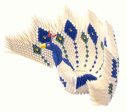 Павлин оригами 3 D