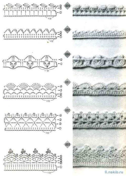 свой цитатник или сообщество!  Ажурные кромки крючком: цветочки, арки, вееры и другие.  Прочитать целикомВ.
