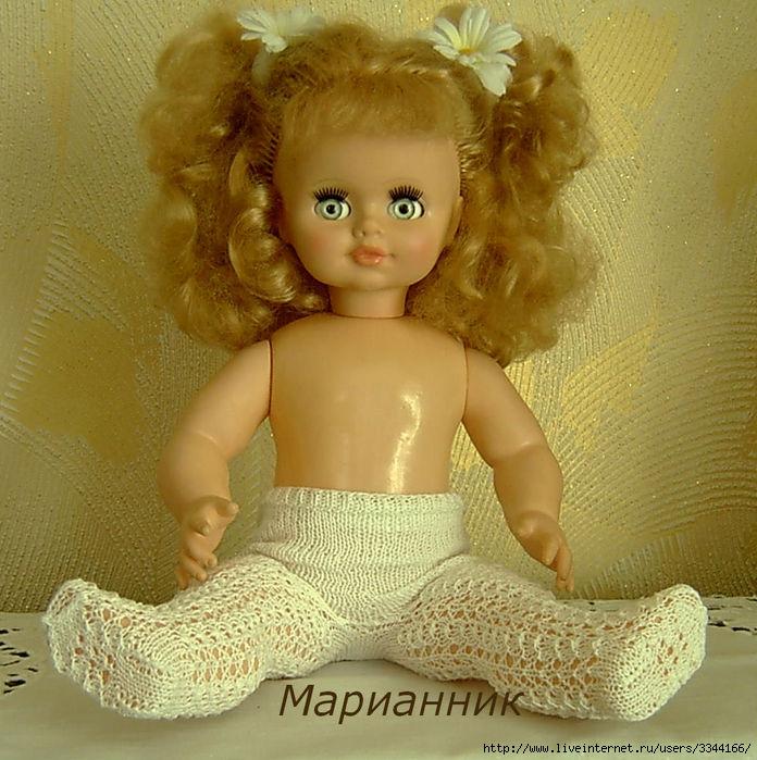 Связать колготки для куклы крючком