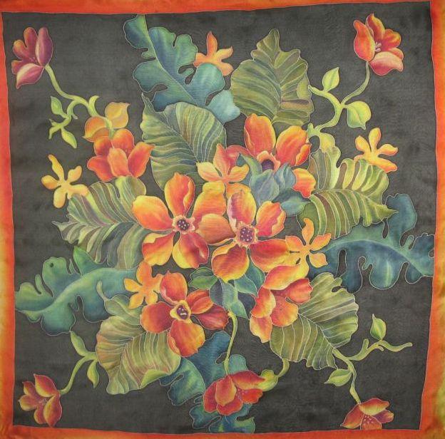 Описание: Если художник желает в... Само слово Батик.  Роспись батик издавна известна у народов Индонезии, Индии.
