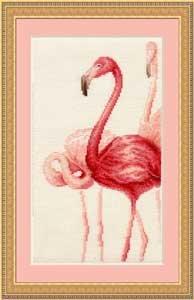 """свой цитатник или сообщество!  Вышивка  """"Фламинго.Триптих """".Часть 3. Прочитать целикомВ."""