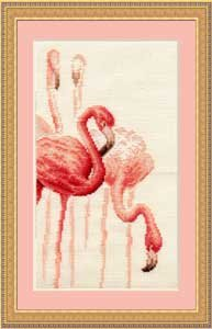 Спасибо за понимание!  Вышивка.  Фламинго 3. СХЕМА.