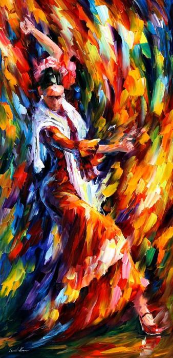 """Схема вышивки  """"Танец Л. Афремова """": схема."""