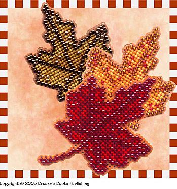 Вышивки бисером листочек