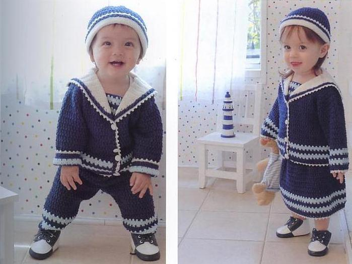 Вязаный костюм для мальчика своими руками