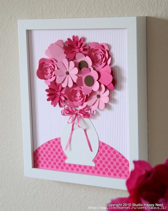 Цветы из бумаги схемы шаблоны панно 107