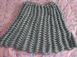 """Пуловер с узором  """"азиатский колосок """" ."""