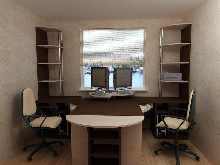 Письменный стол на два рабочих места с long hairstyles.