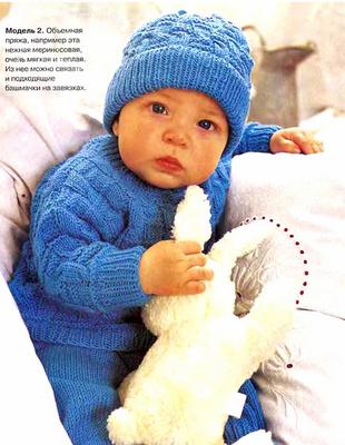 вязание спицами детям до года.