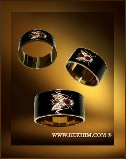 Черное кольцо эмаль купить
