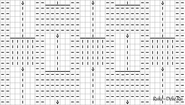 Вязание на спицах-узор малинка 28