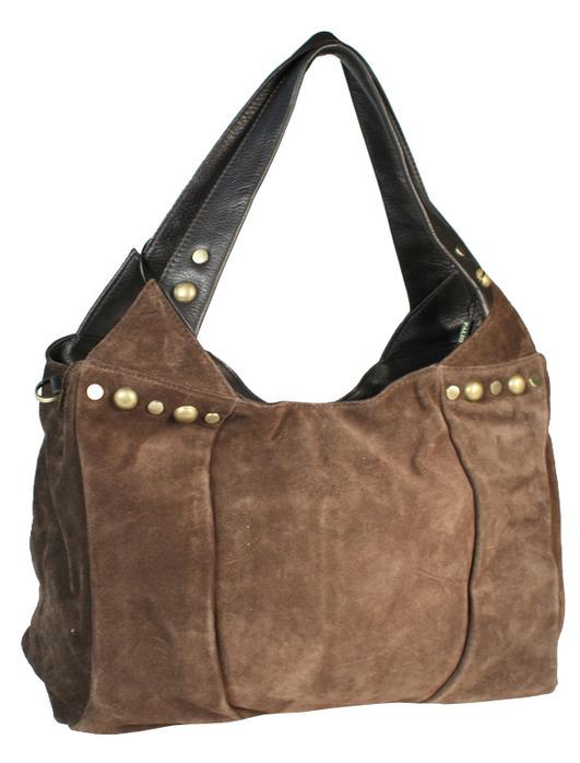 Женская сумка Palio, выполненная из натуральной замши коричневого цвета...