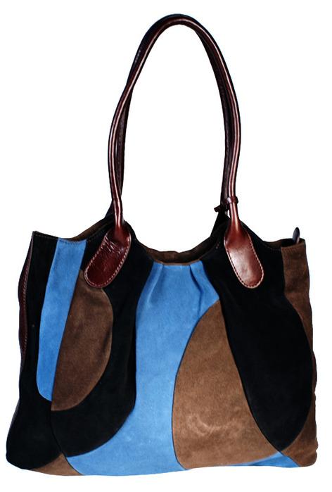 Артикул.  Женская сумка Palio из натуральной замши коричневого цвета.