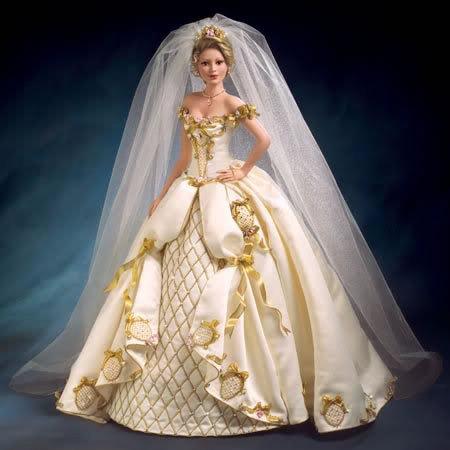 Как сделать кукле пышное платье