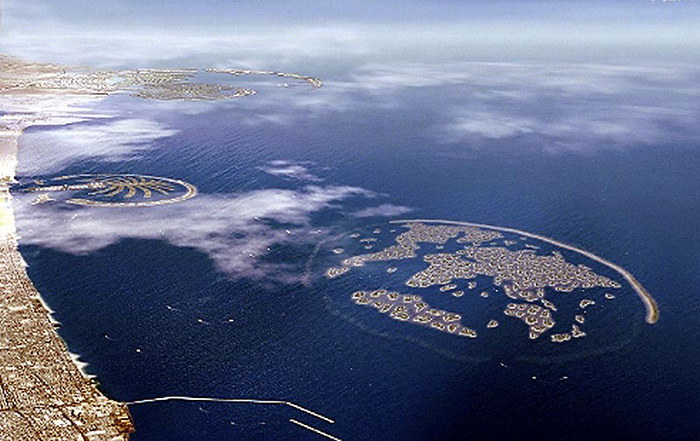"""В Дубае амбициозный проект  """"The World """" рискует пойти ко дну.  Искусственный архипелаг из 300 островов..."""