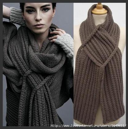 вязаные шарфы фото и схемы