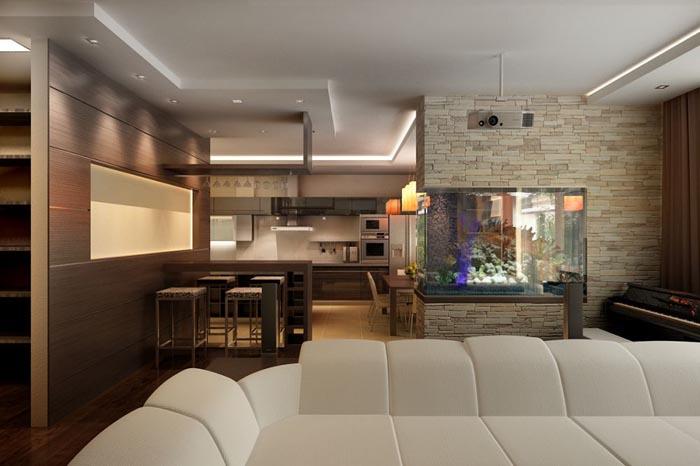 интерьер кухни гостиной фото