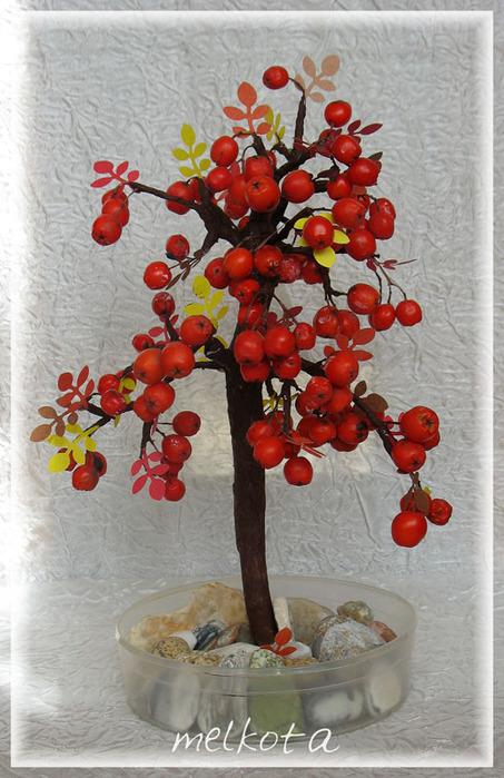 Поделки из черноплодной рябины
