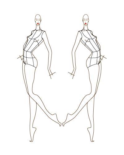 шаблоны для рисования эскизов одеждыъ.