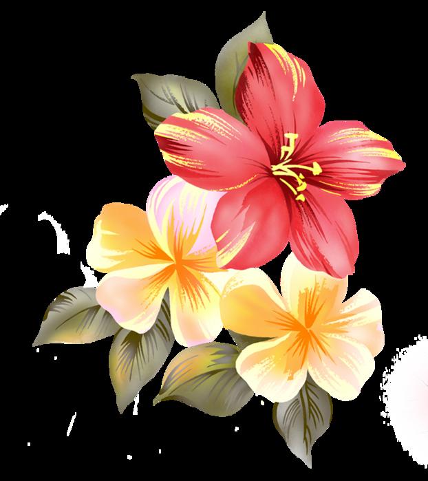 Анимация горы цветы