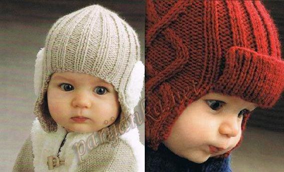Шапочки с ушками для мальчика.  Описание этих шапочек вы найдете на сайте url. url.  Прочитать целикомВ.
