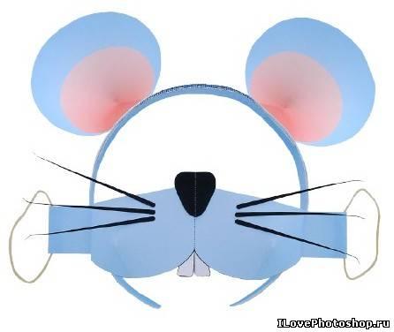 Маски из бумаги: Мышонок, Кот, Зайчик.  Бумажные маски животных для детей.  Маска леопарда.