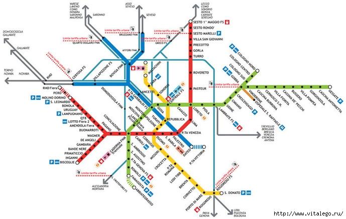 Схемы метро разных стран и городов