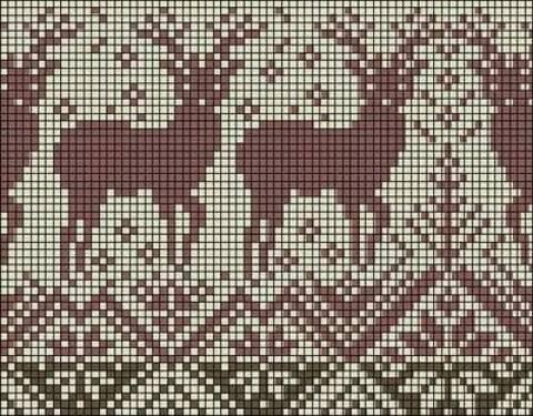 Вот искала себе схему вязания узоров с оленями.  А еще нашла вот такие