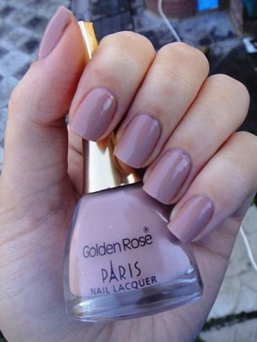 Грязно розовый цвет ногтей
