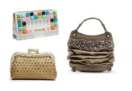 ...Valentino; замшевая сумка, декорированная камнями, Donna Karan.