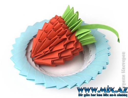 Рамочка из модулей оригами.