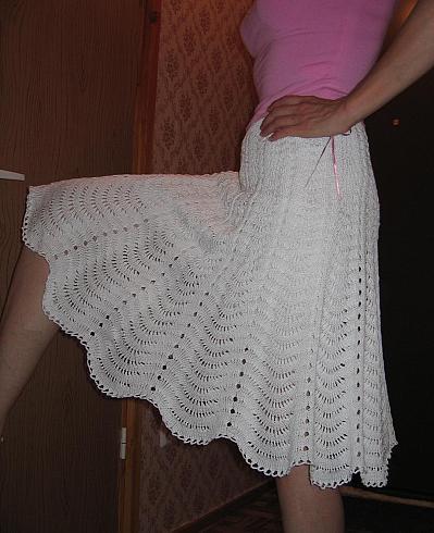 Вязаные юбки крючком | Вязание