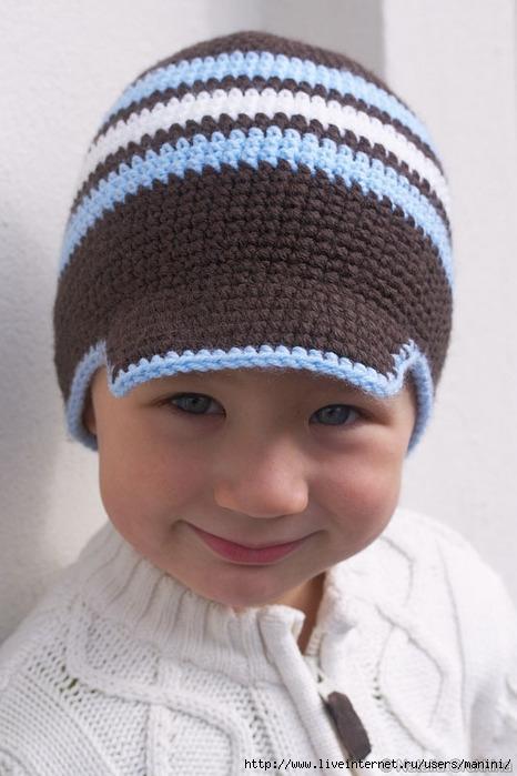схемы детские летние шапочки